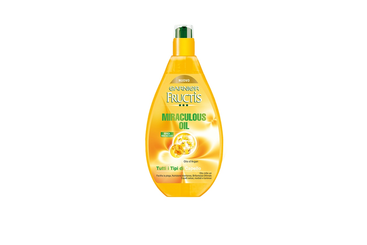 OLI E ALGHE MIRACOLOSE: ll Garnier Fructis Miraculous Oil può essere usato in qualsiasi momento della giornata