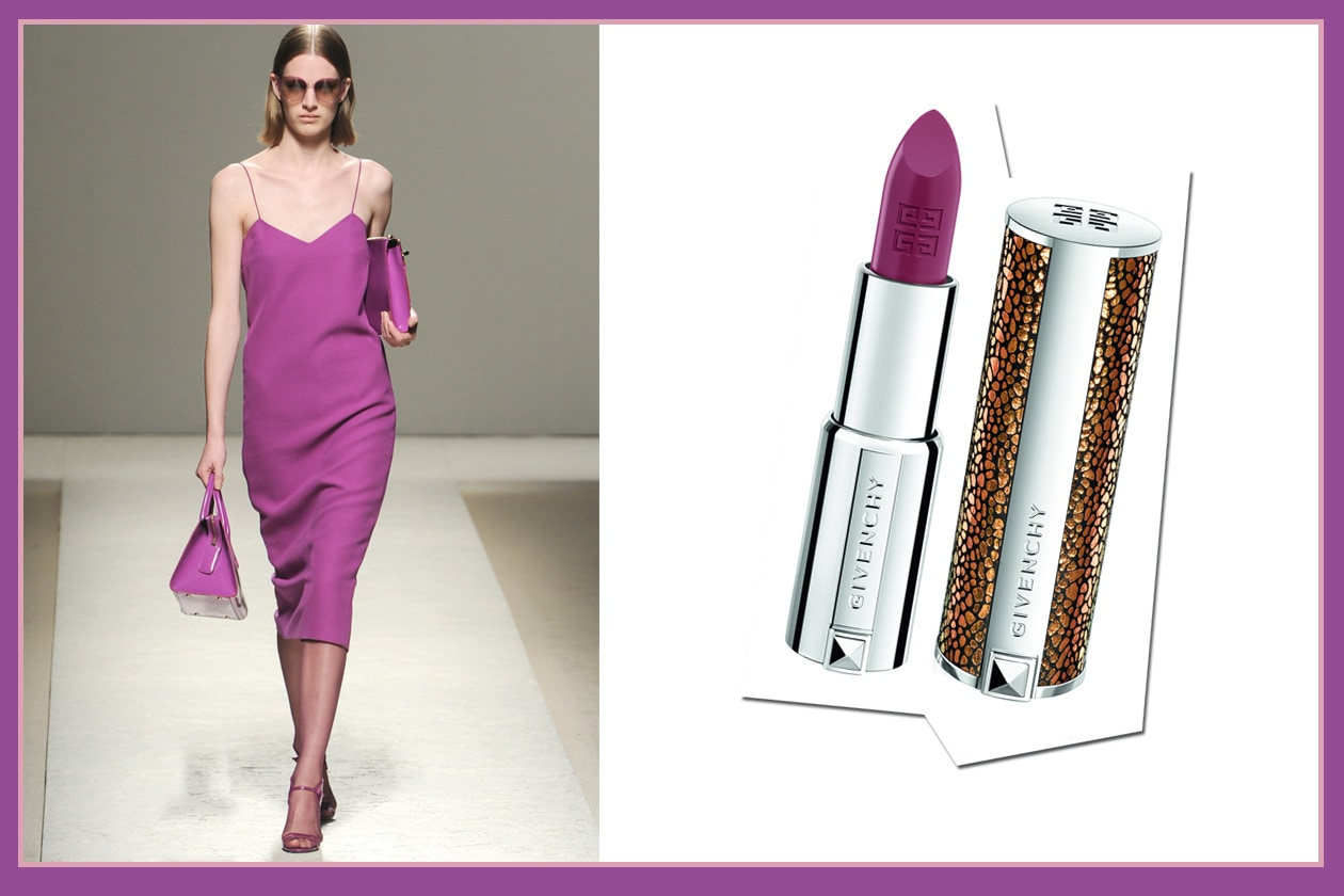 Per le serate più eleganti: il vestito Max Mara e Le Rouge N.311 di Givenchy