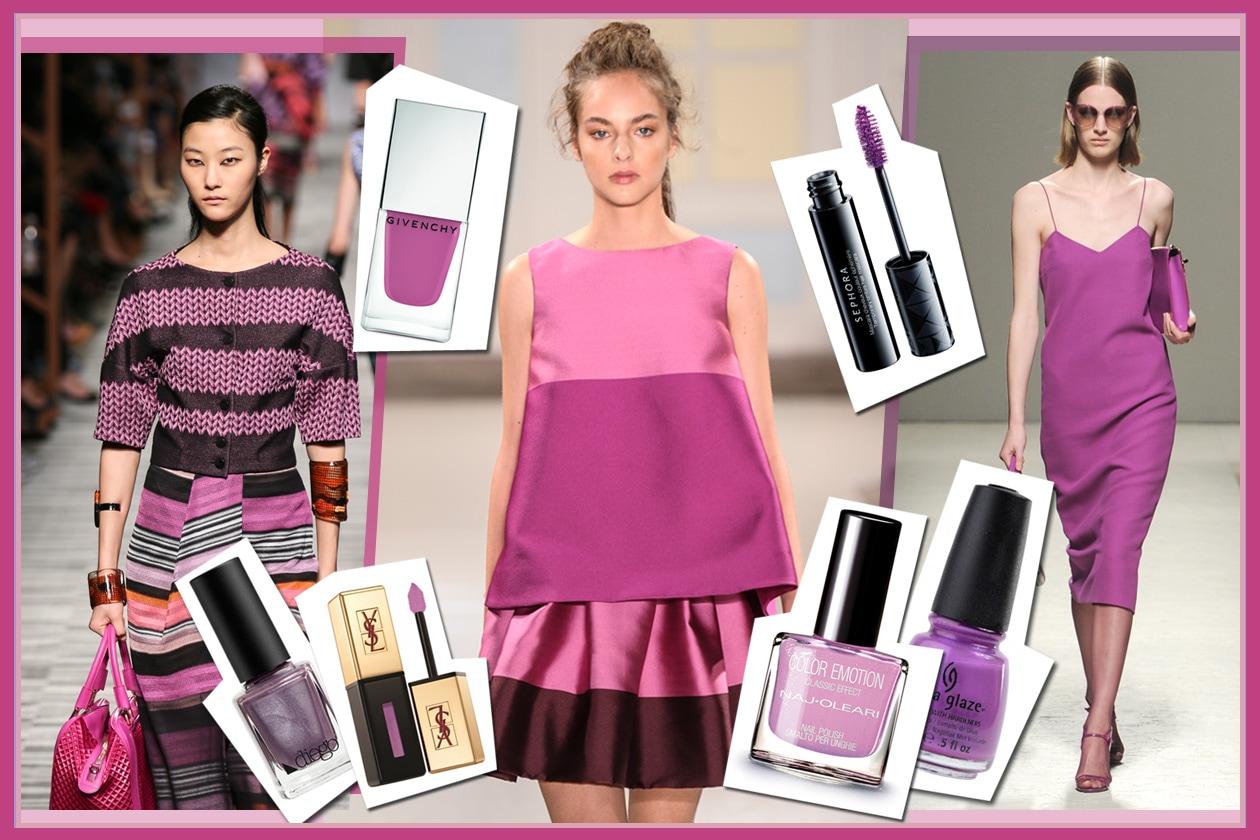 Radiant Orchid è il colore del 2014 secondo Pantone. Gli abbinamenti beauty&fashion di Grazia.IT