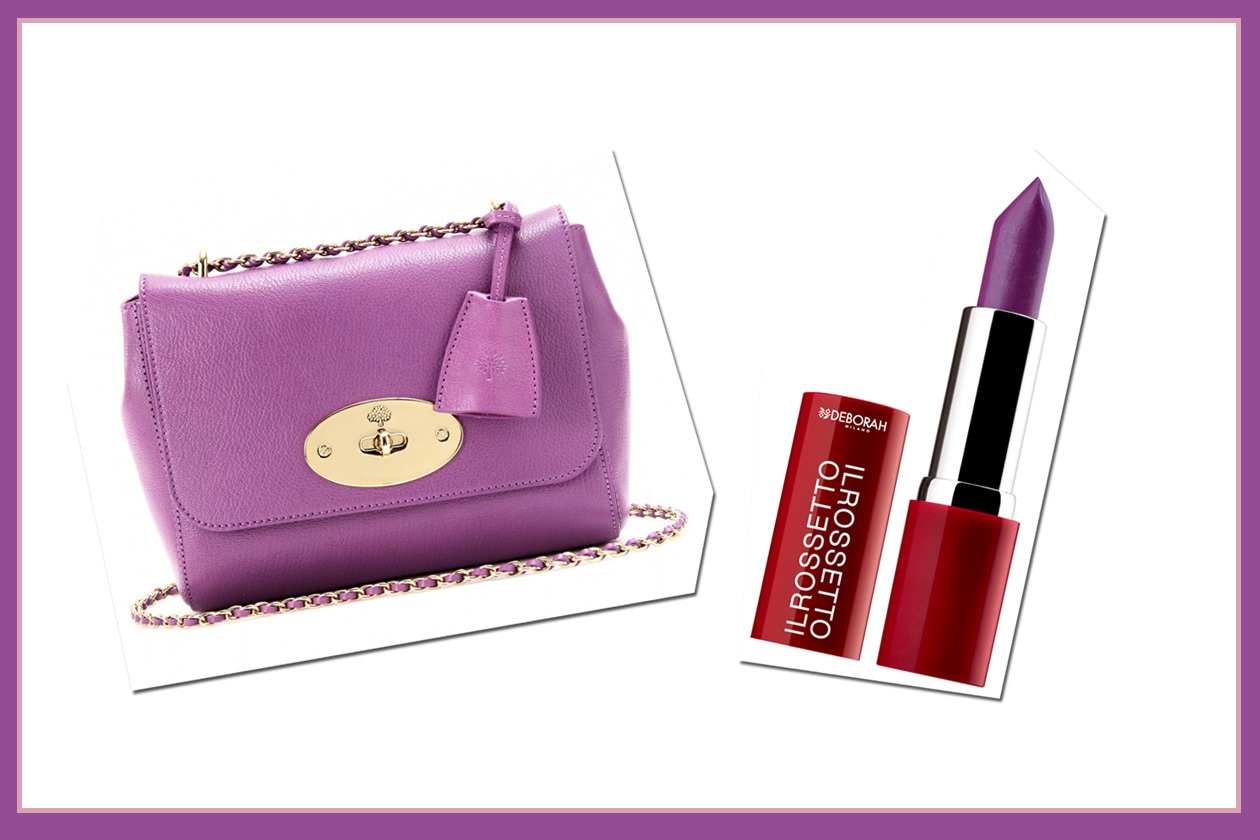 Ton sur ton: la borsa di Mulberry e il Rossetto 809 di Deborah Milano