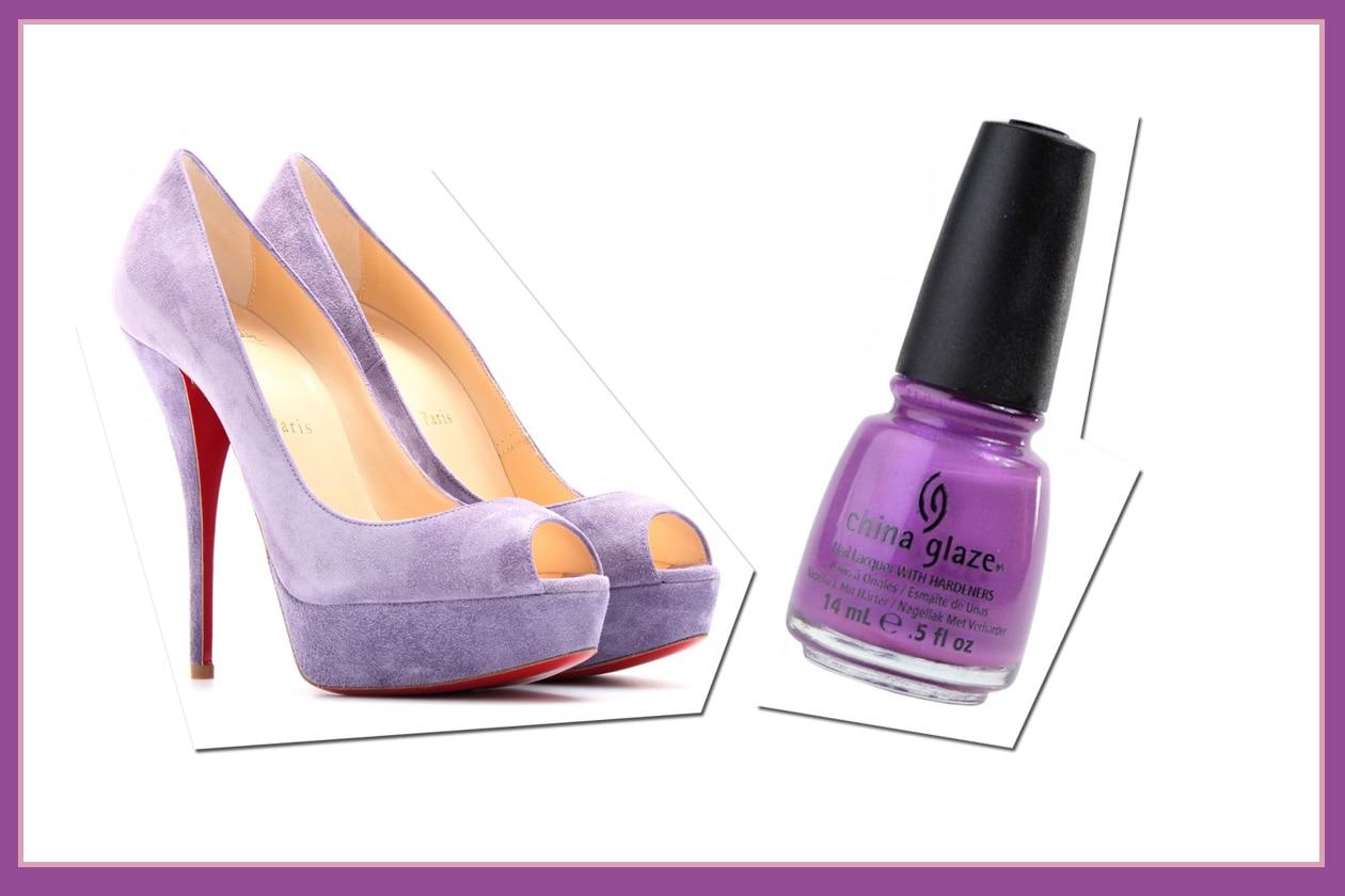 Violet step con le pumps di Christian Louboutin e il Gothic Lolita di China Glaze