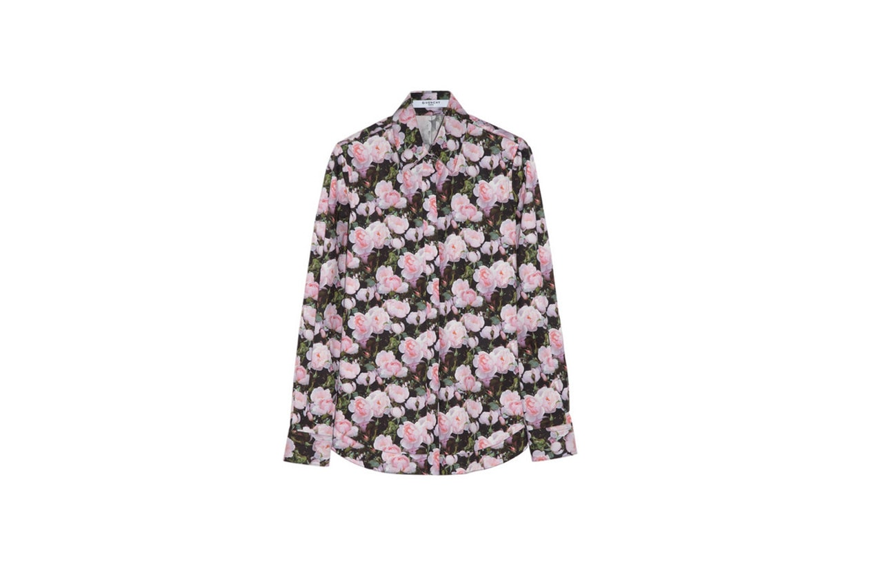 givenchy floral print cotton poplin shirt