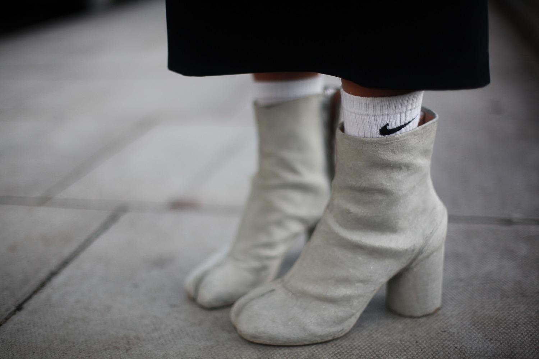 dettagli street con Tabi boots di Margiela