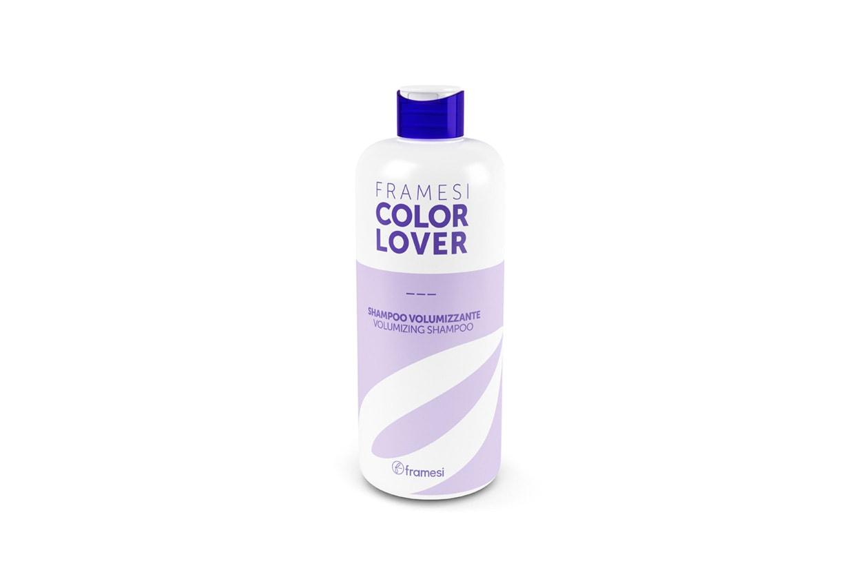 A dare volume ci pensa lo Shampoo Volumizzate Color Lover di Framesi che protegge il colore