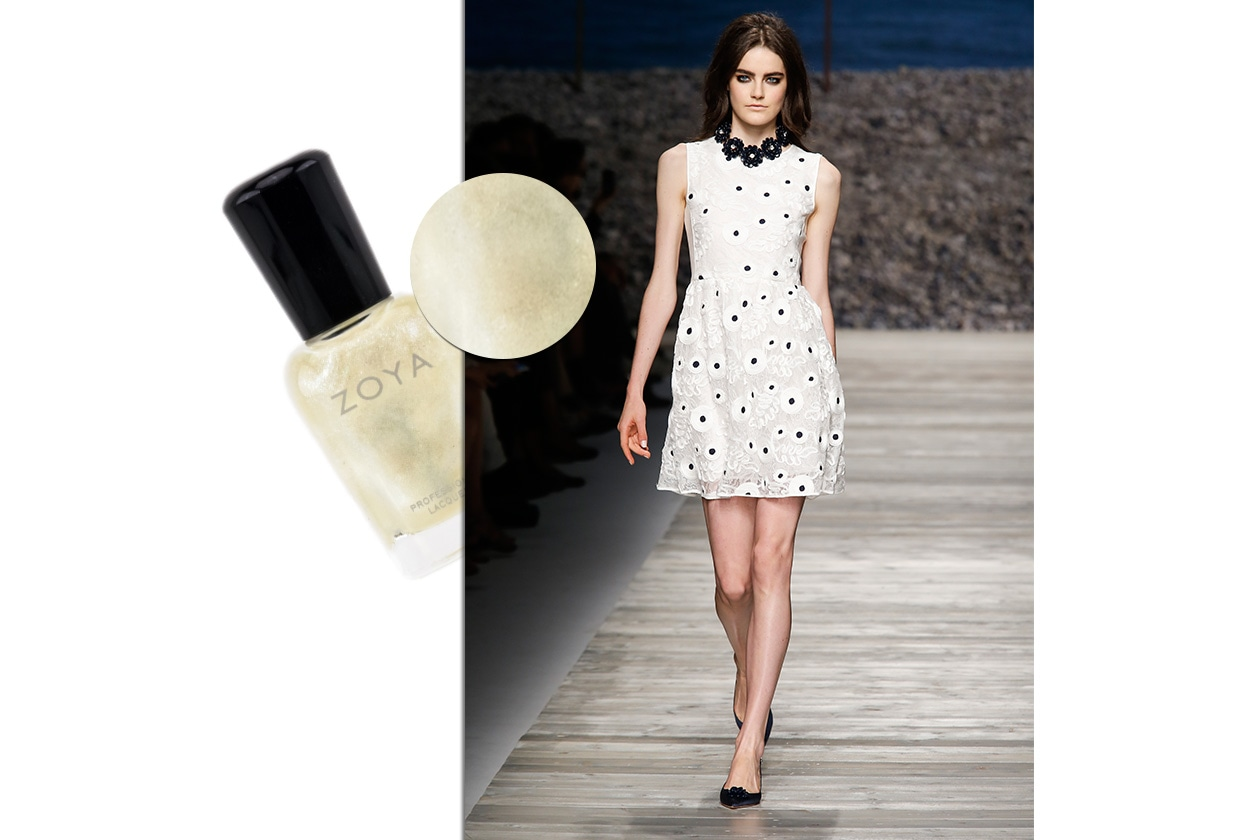 BEAUTY moda & nails in white Blugirl Zoya