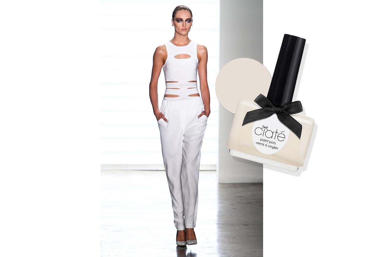BEAUTY moda & nails in white Cushnie er Ochs Ciaté