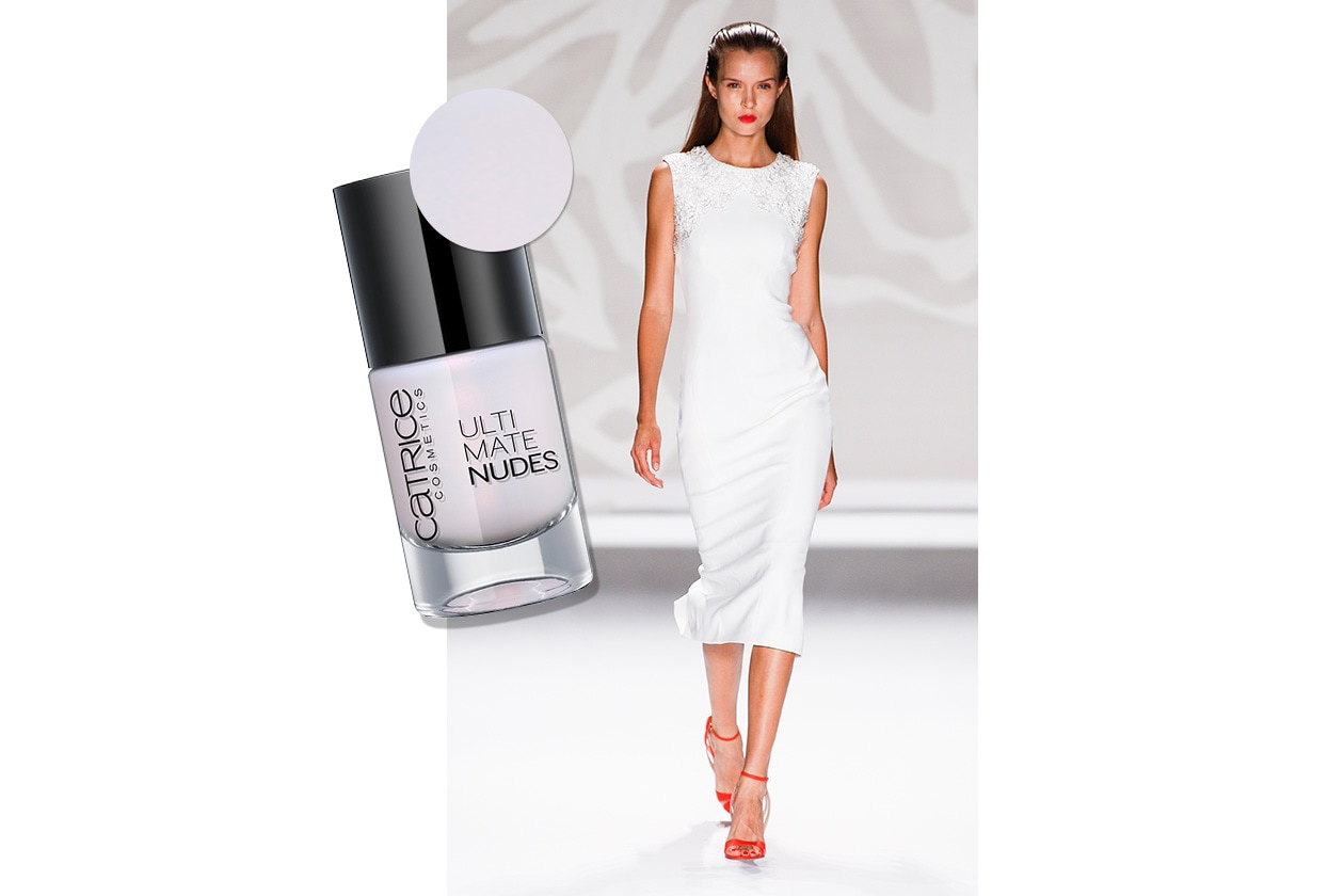 BEAUTY moda & nails in white Lhuillier Catrice