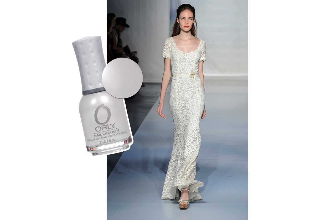 BEAUTY moda & nails in white Luisa Beccaria Orly
