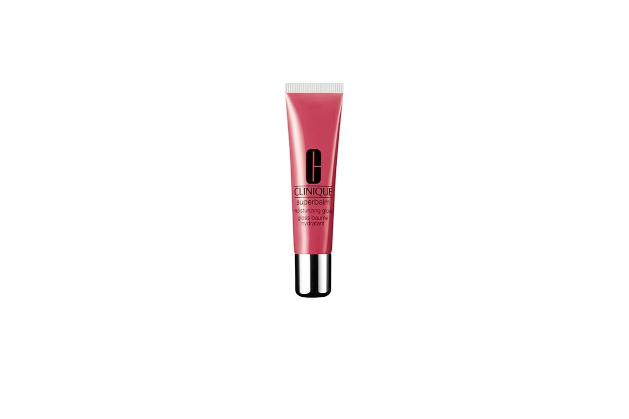 Beauty blush e prodotti labbra in rosa clinique superbalm moisturizing gloss Raspberry