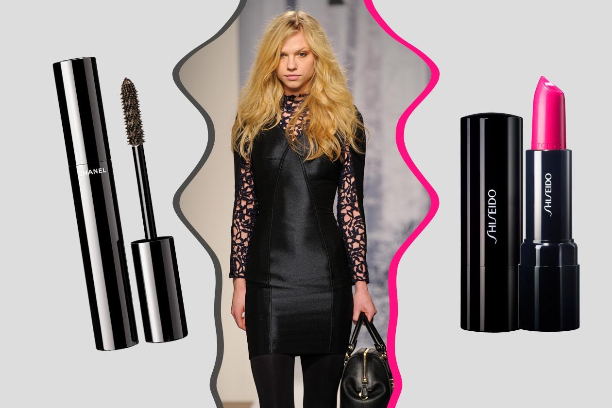DARK LADY: total black per chi ama osare (Aigner). Make up classico (Chanel – Shiseido)