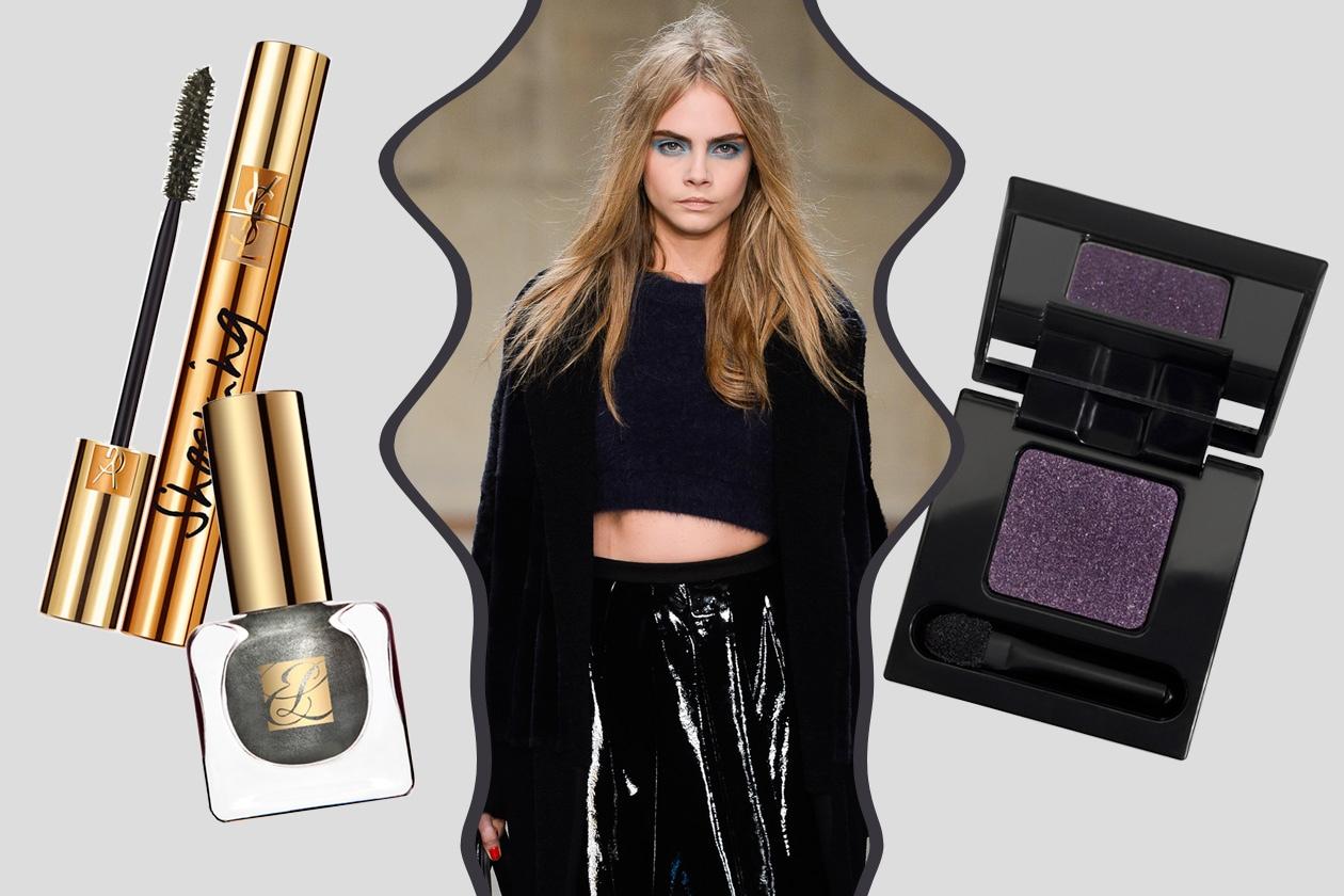 GIRLY BLACK: modo cosmopolita per Topshop Unique. Accenti forti per il beauty look (Diego Dalla Palma – Yves Saint Laurent – Estée Lauder)