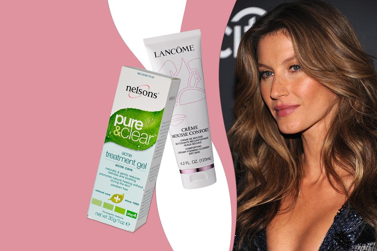 GISELE BÜNDCHEN  DICE ADDIO ALLE IMPERFEZIONI: da sempre lotta contro punti neri acne (Nelsons – Lancôme)