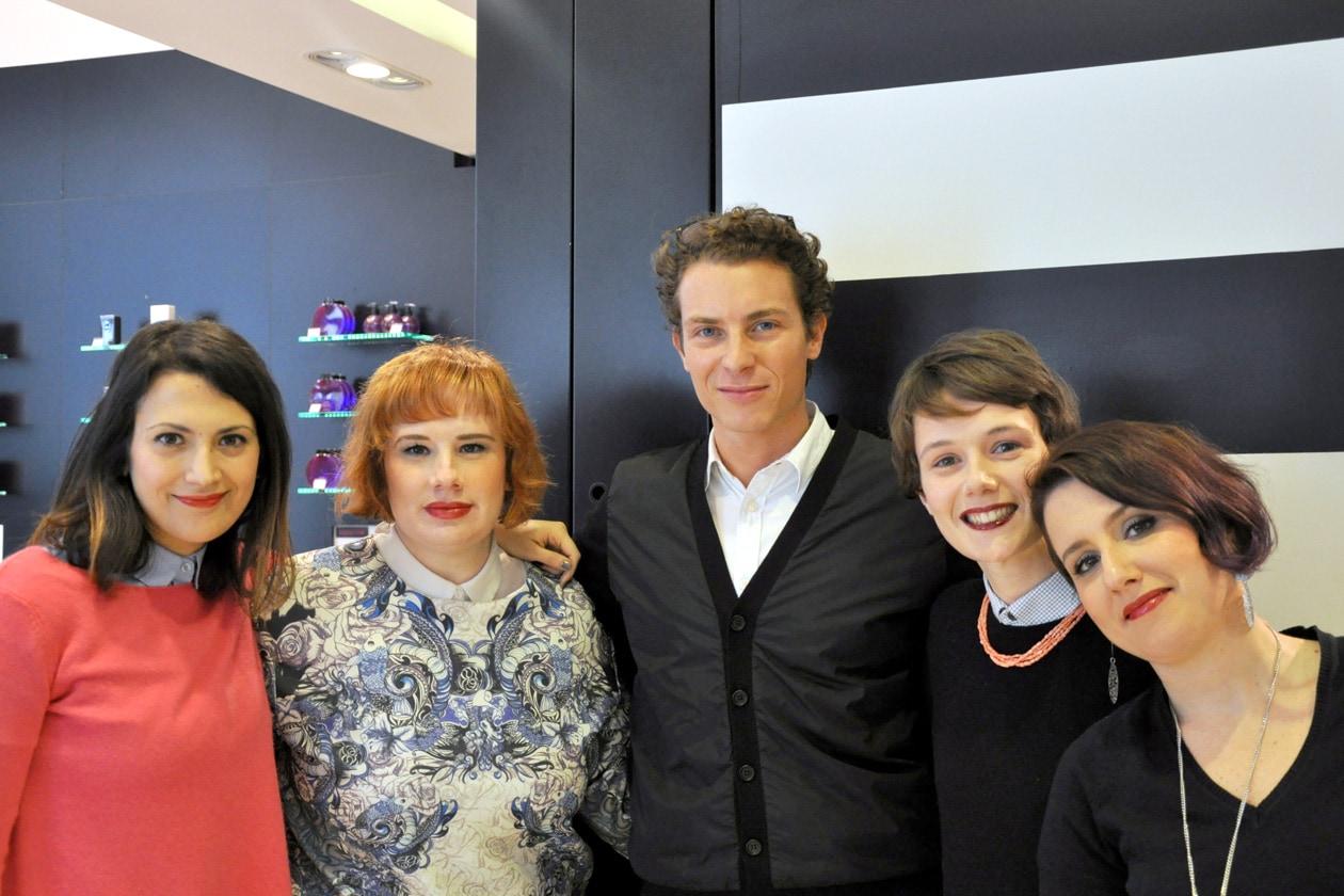 Il team di Grazia.it con Matteo Puppi, Senior Product Manager YSL Beauté