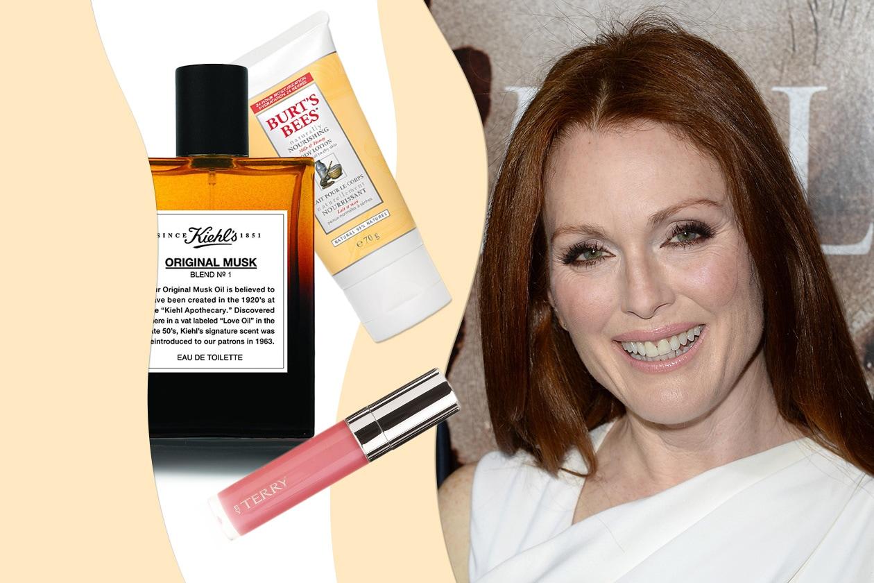 JULIANNE MOORE E LA BELLEZZA TUTTA NATURALE: l'attrice ha una passione per i prodotti ecofriendly (Burt's Bees – Kiehl's)