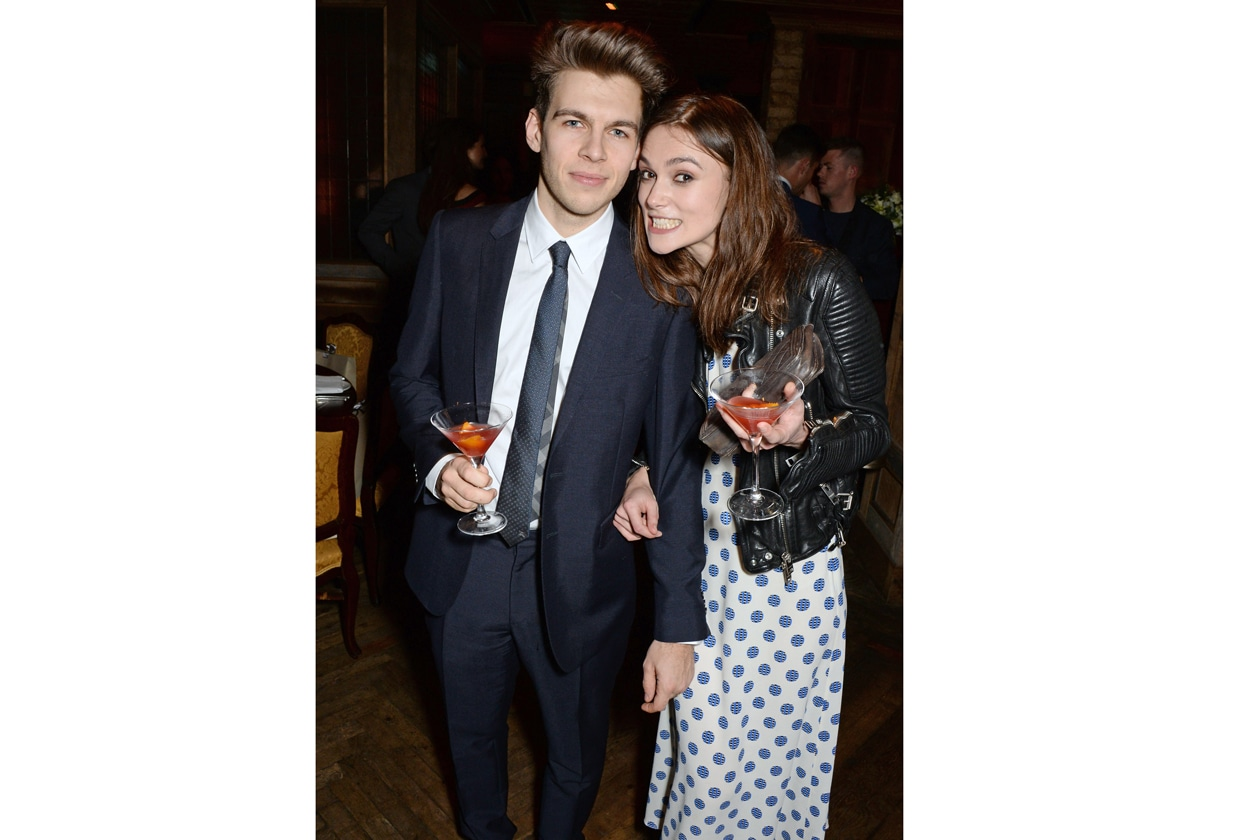 James Righton & Keira Knightley at Harvey Weinstein's BAFTA nominees dinner in partnership with Burberry & Grey Goose at Little House, Mayfair