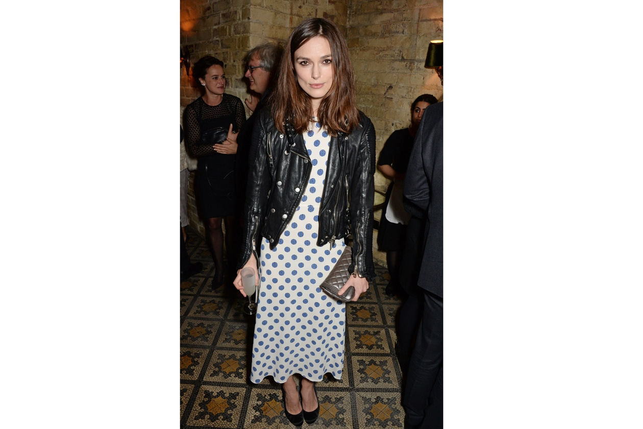 Keira Knightley at Harvey Weinstein's BAFTA nominees dinner in partnership with Burberry & Grey Goose at Little House, Mayfair