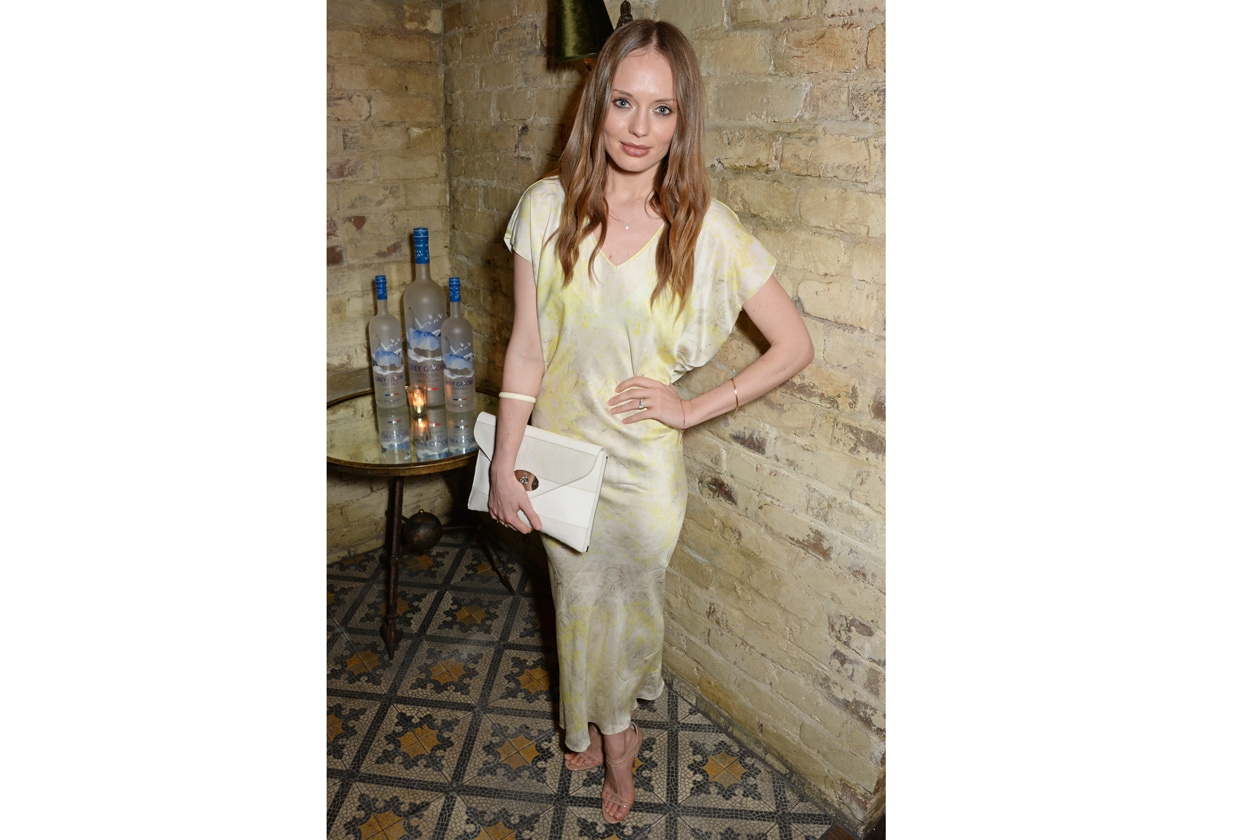 Laura Haddock at Harvey Weinstein's BAFTA nominees dinner in partnership with Burberry & Grey Goose at Little House, Mayfair