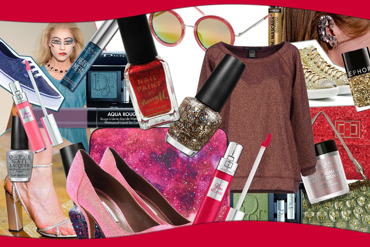 Make up glitter: il beauty look diventa super luminoso e si ispira a un guardaroba con strass, pietre e punti luce. Gli abbinamenti di Grazia.IT