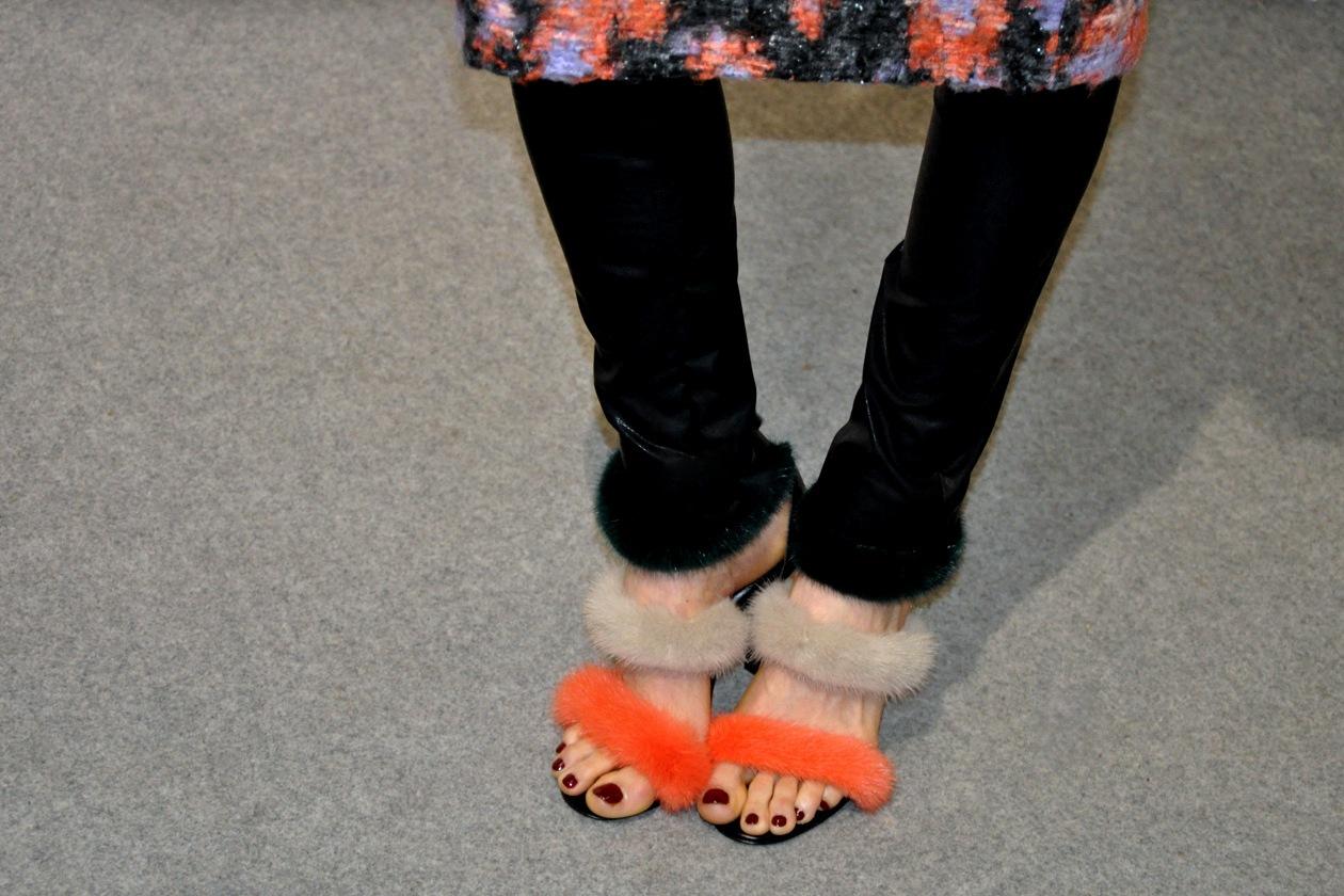Orange&Beige on my feet