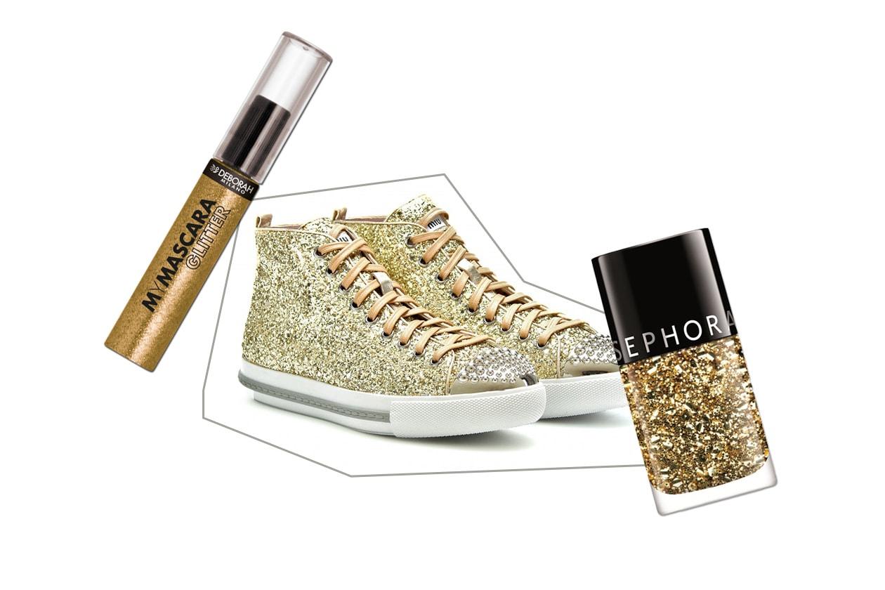 SPORTY GOLD: l'oro dal tocco glam per tutti i giorni (Miu Miu – Deborah Milano – Sephora )