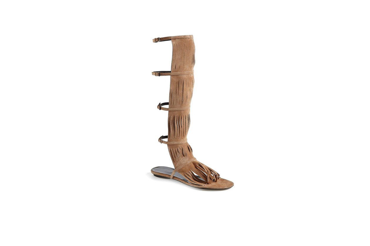 Fashion Fringes are back gucci sandals