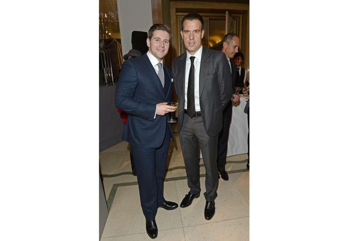 Allen Leech and Mulberry CEO Bruno Guillon