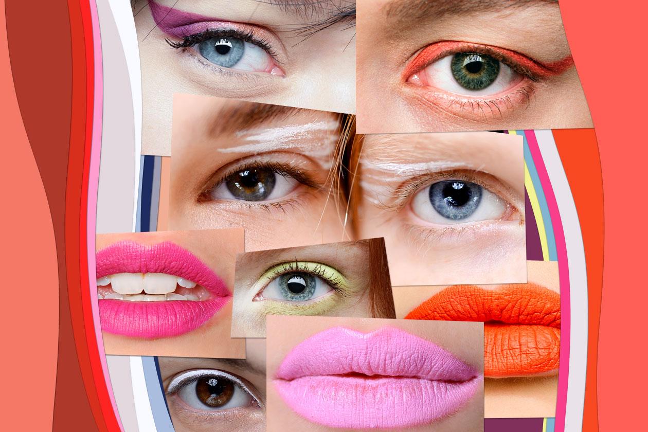 Color block per occhi e labbra: la tendenza make up della primavera 2014 arriva direttamente dalle passerelle. La selezione di Grazia.IT
