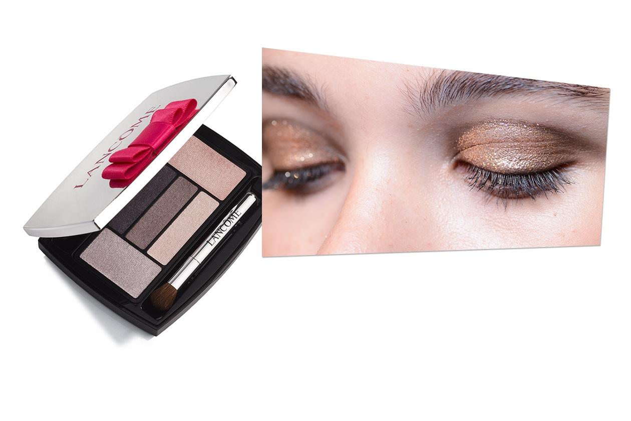 GLITTER MANIA: A tutto glitter, anche in primavera! Da replicare il trucco di Jason Wu scegliendo colori sul rosa e sul nude (Lancôme)