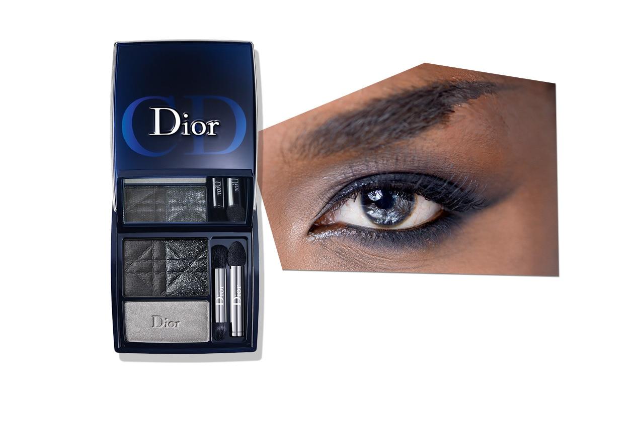 GREY ATTITUDE: grigio luminosissimo. L'occhio è valorizzato da una punta di bianco nella parte interna dell'occhio (Christophe Guillarme – Dior)