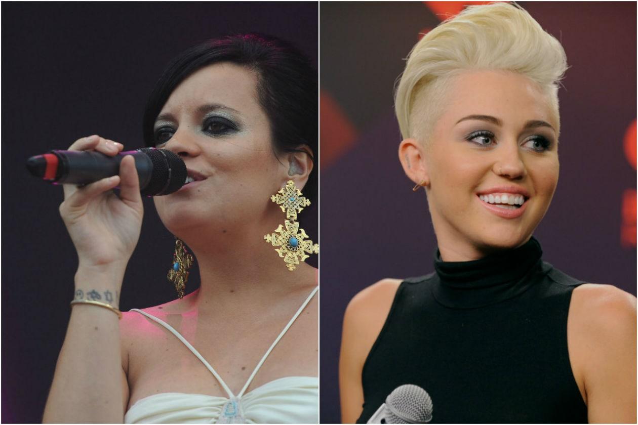 Lily Allen e Miley Cyrus