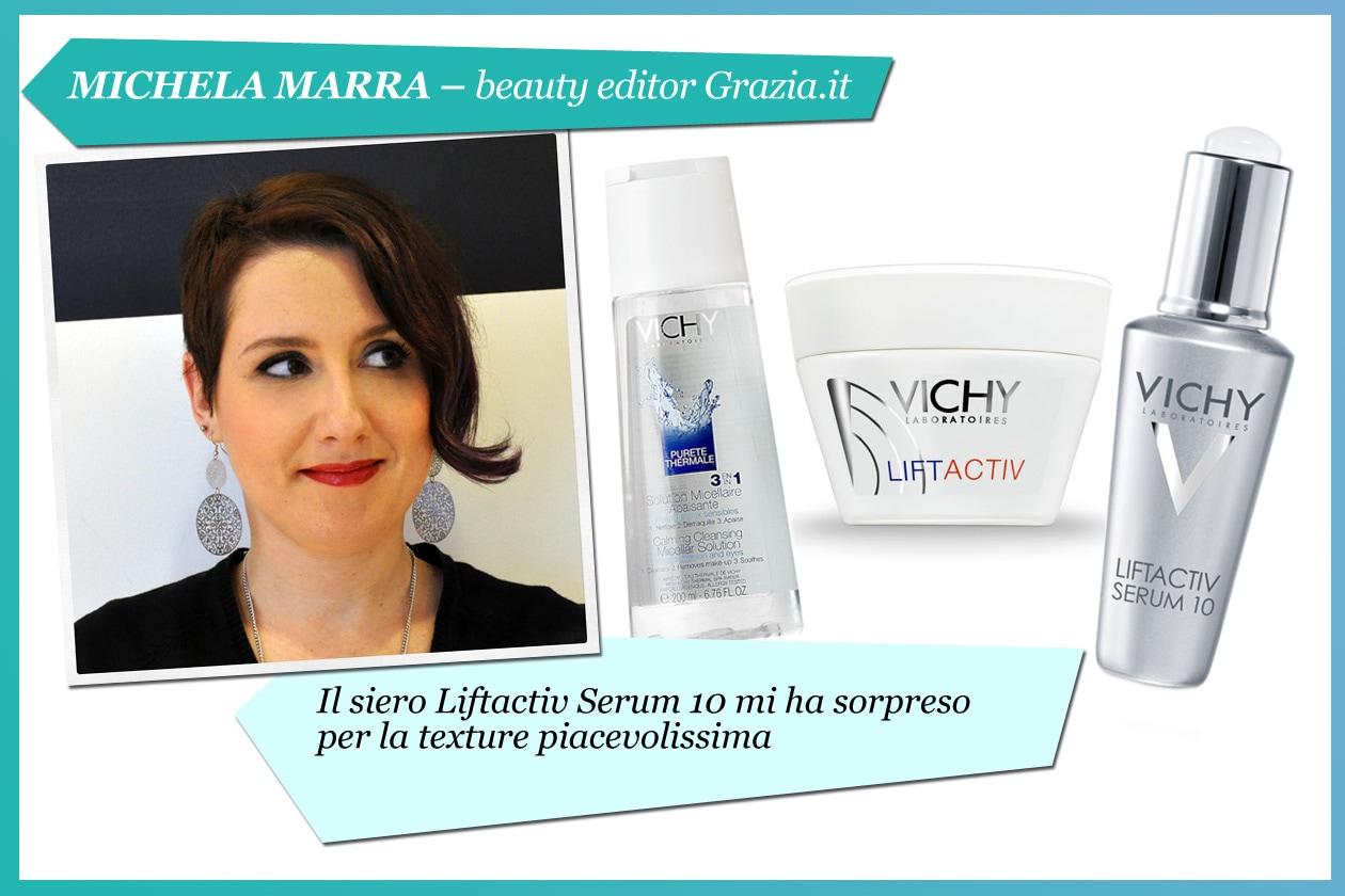 Michela Marra, beauty editor di Grazia.it: «Ho la pelle sensibile che tende a diventare grassa. La linea Liftactiv è perfetta»