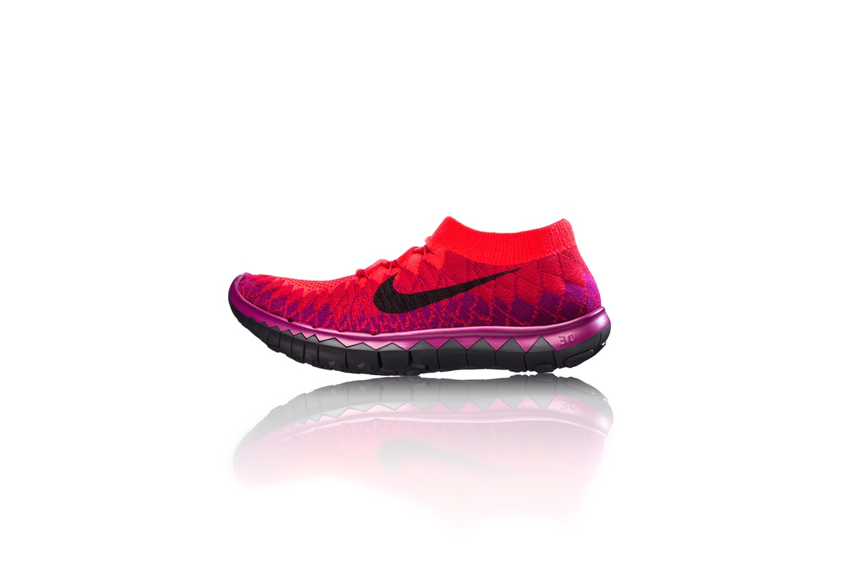 Nike Free Flyknit 3.0 womens side profile 28060