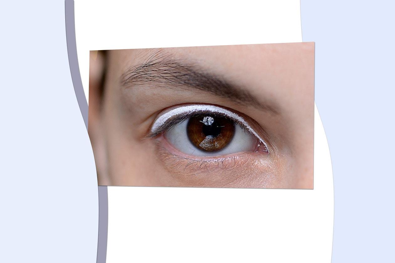 SPRING IN WHITE: Immancabile bianco: la nuance passe-partout sottolinea il contorno occhi (Kenzo)
