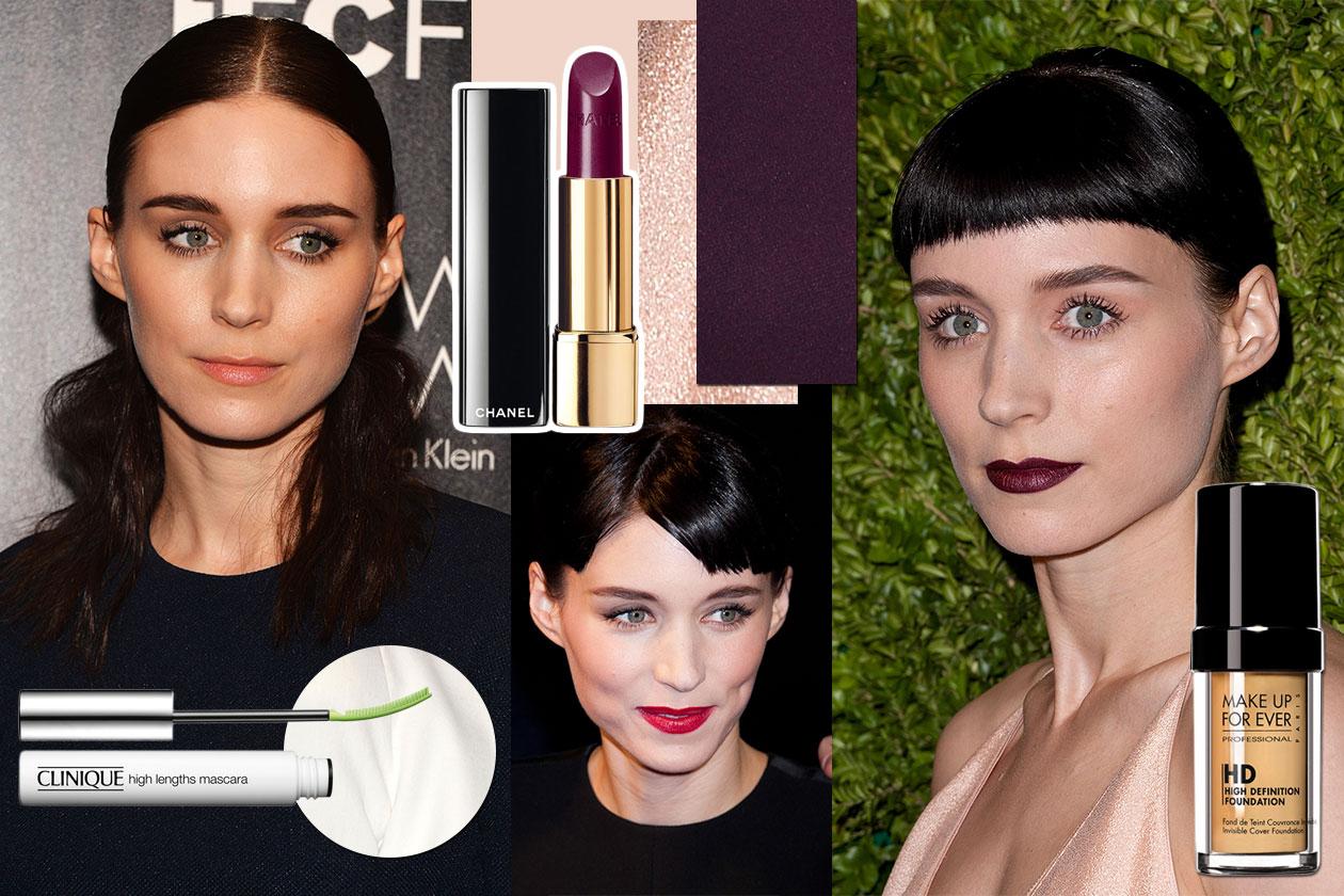 Rooney Mara beauty look: occhi al naturale e labbra dark al centro dell'attenzione