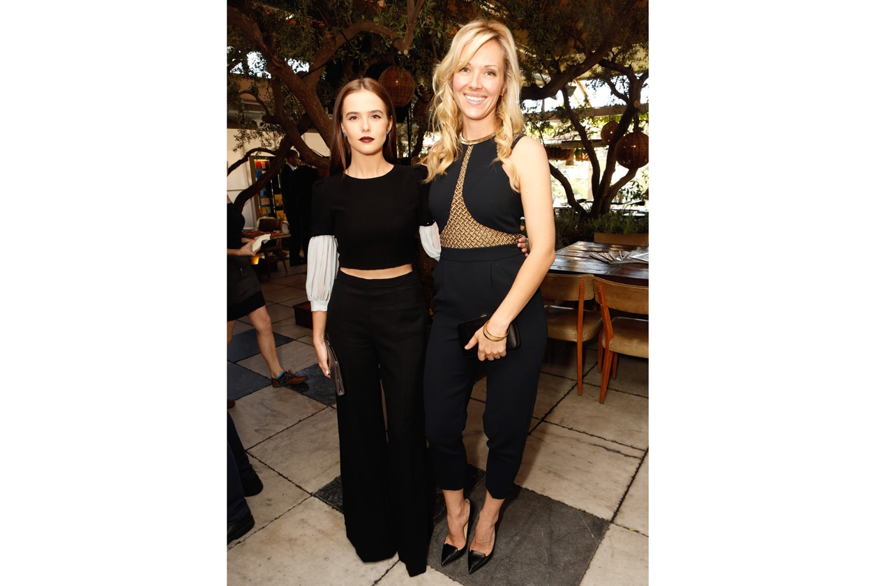 Zoey Deutch & Stylist Tara Swennen attend the Jimmy Choo & THR Powerstylist Luncheon in LA photo by Jeff Vespa Getty Images