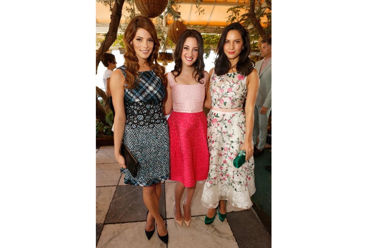 Ashley Greene, stylist Micaela Erlanger & Olivia Munn attend the Jimmy Choo & THR Powerstylist Luncheon in LA photo by Jeff Vespa