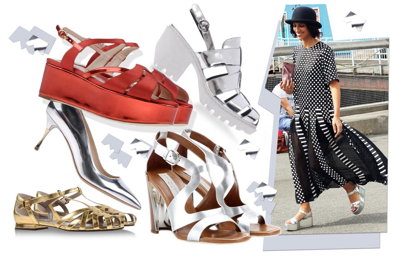 Fashion Che scarpe metto Metallic