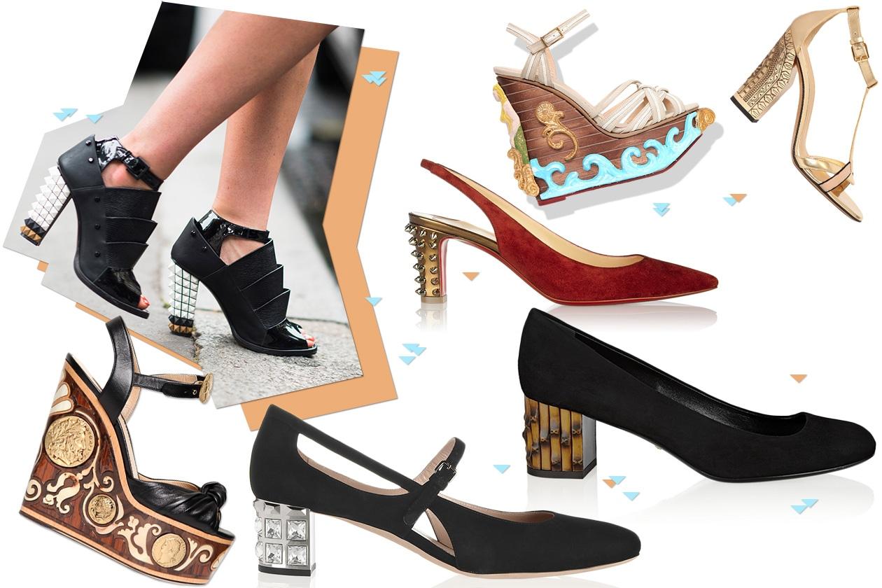 Fashion Che scarpe metto Tacco decorato