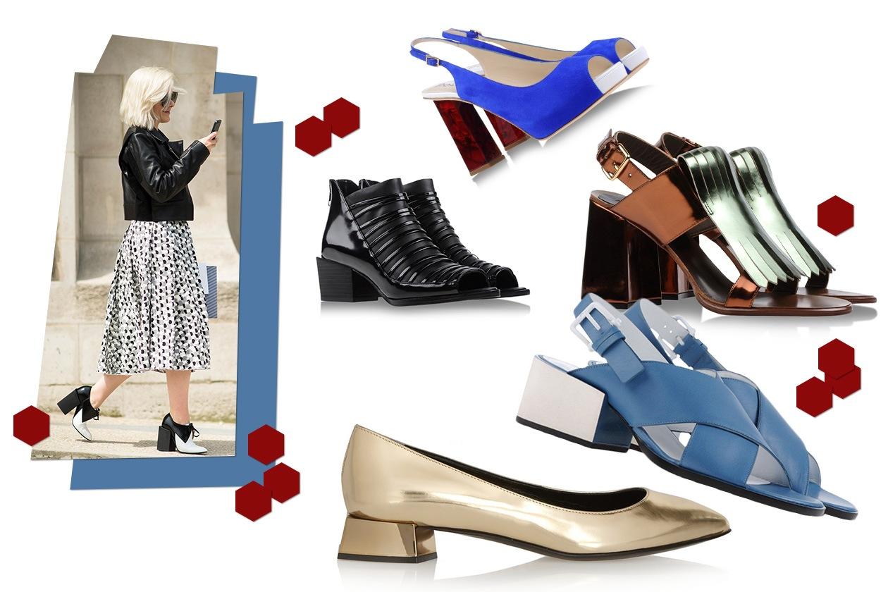 Fashion Che scarpe metto Tacco Geometrico