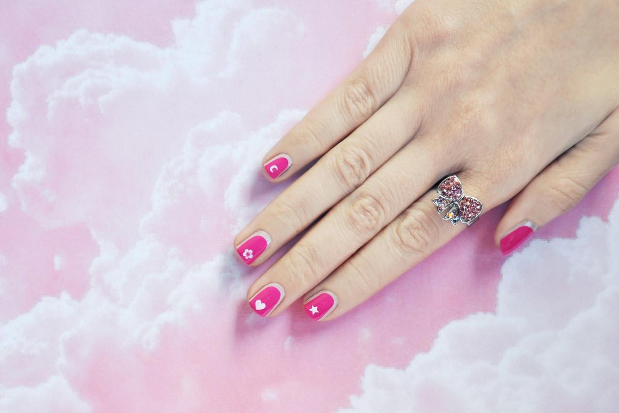 2. Pretty in Pink – manicure
