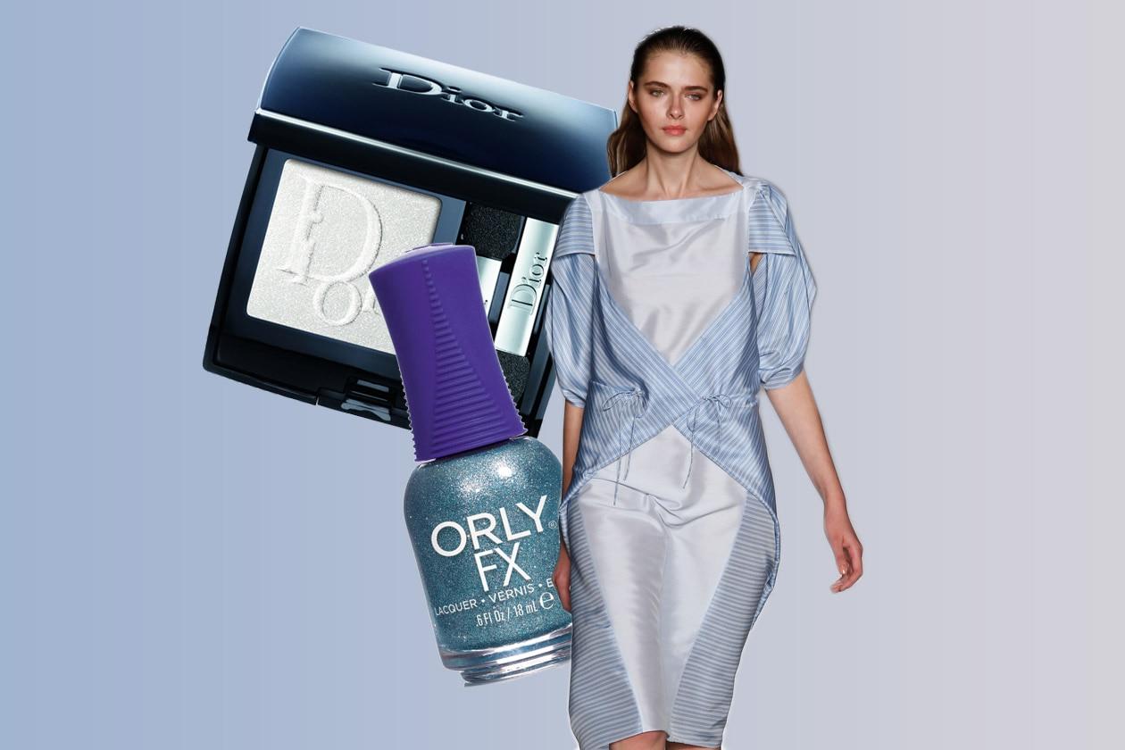 AZZURRO GHIACCIATO: look lunare (Angelo Bratis – Orly – Dior)
