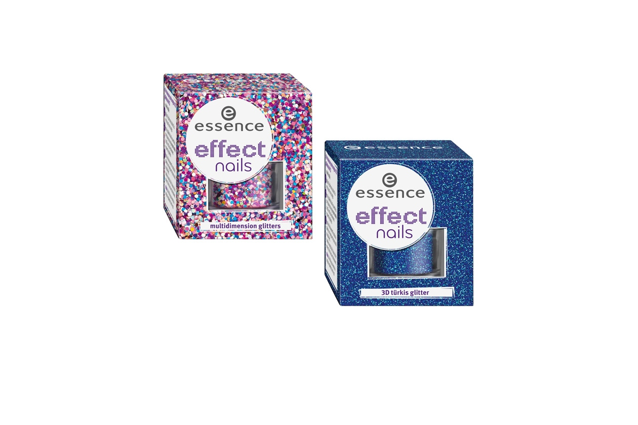 Beauty unghie effetti speciali Essence Effect nails glitter