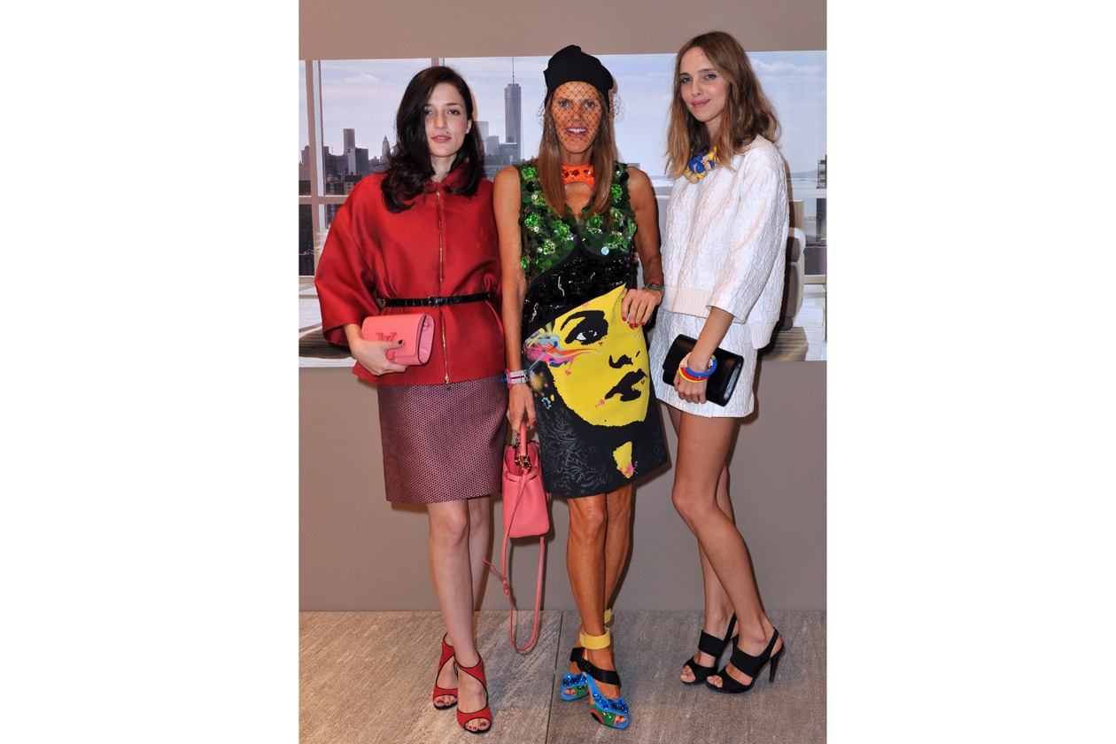 Eleonora Carisi, Anna Dello Russo and Candela Novembre @ Fendi Casa cocktail
