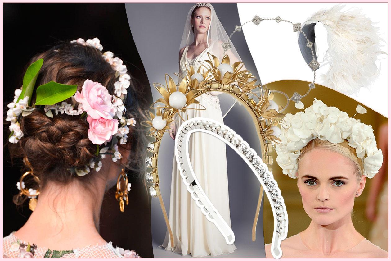 Fashion accessori per capelli sposa 00 Cover collage