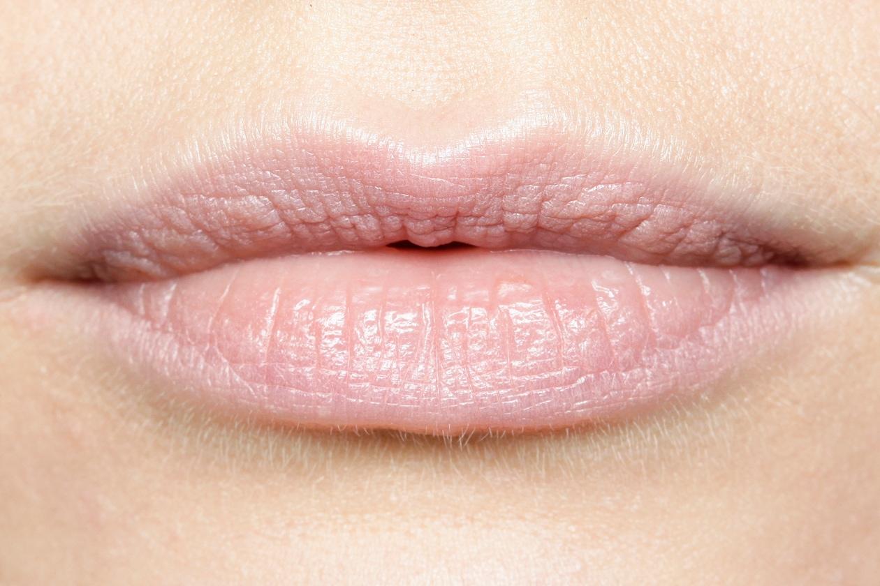 LABBRA: per un trucco che vira sui colori del ghiaccio, scegliamo labbra colorate di una tonalità nude e fredda (Sally Lapointe)