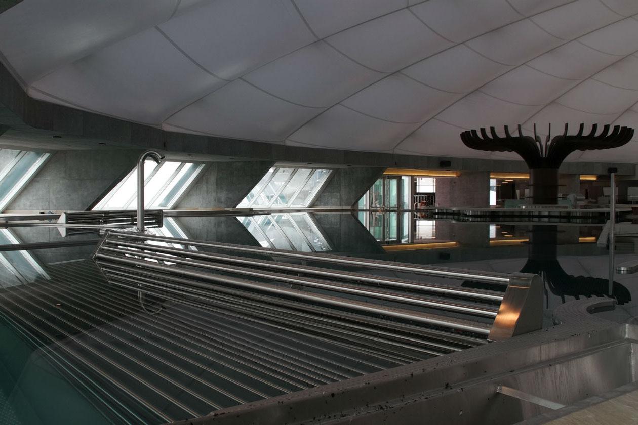 La Splash&SPA Tamaro, ai piedi del Monte Ceneri, in Svizzera, ospita la cupola del benessere