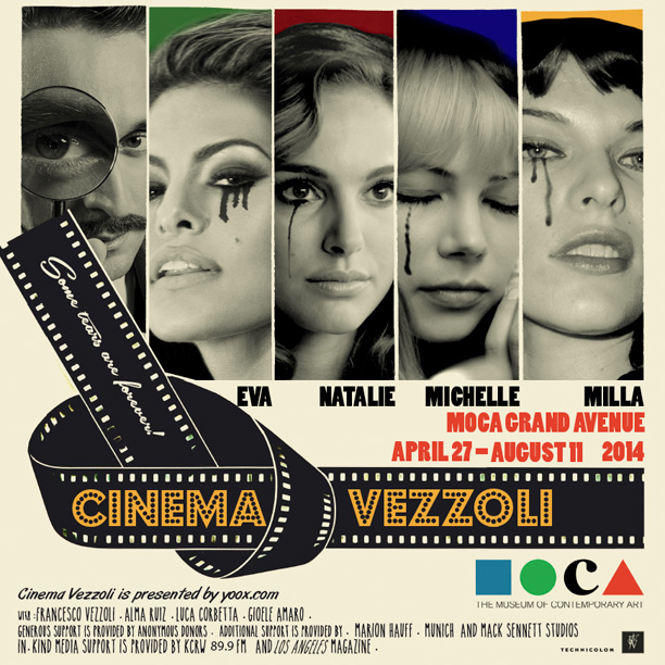Locandina Mostra Cinema Vezzoli @Moca
