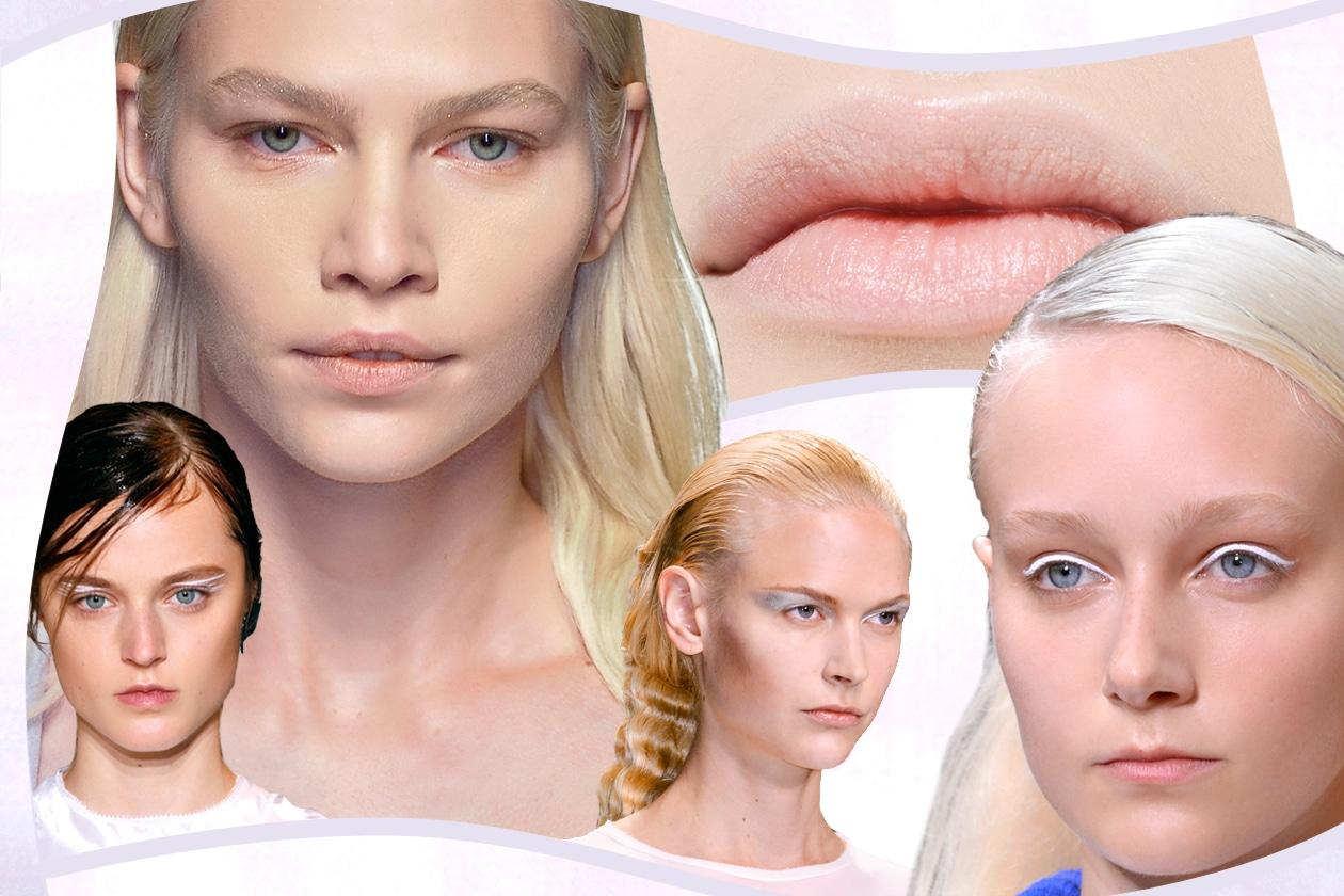 Make up in bianco: il mood ghiaccio è il nuovo trend della stagione. La selezione di Grazia.IT direttamente dalle passerelle PE 2014