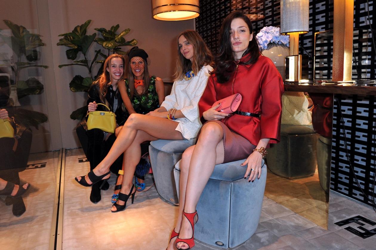 Micol Sabbadini, Anna Dello Russo , Candela Novembre and Eleonora Carisi @ Fendi Casa cocktail