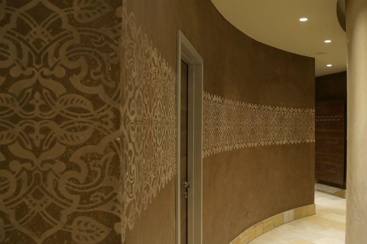 Particolare della sala Hammam presso la Spa dello Splash&Spa Tamaro